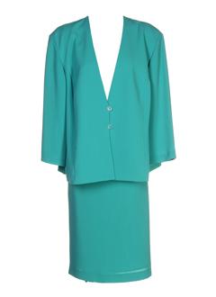 creations et sonia jupe et veste femme de couleur vert (photo)