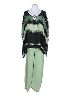alain et murati t et shirt et pantalon femme de couleur vert (photo)
