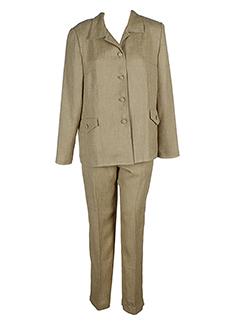 coutureine pantalon et veste femme de couleur beige (photo)