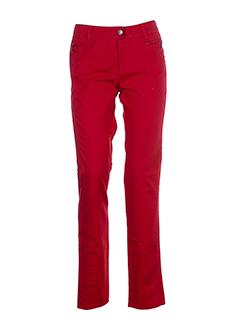 caractere pantalons et decontractes femme de couleur rouge