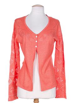 rosa et rosam cardigans femme de couleur orange