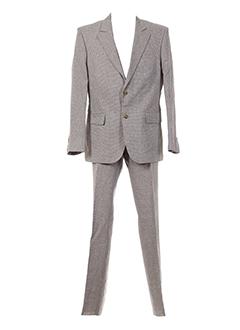 christian et lacroix pantalon et veste homme de couleur beige (photo)