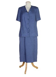 atian jupe et veste femme de couleur bleu (photo)
