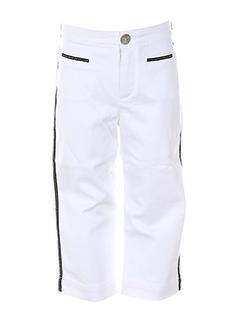 floriane pantalons et decontractes fille de couleur blanc