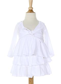 eliane et et et lena robe et veste fille de couleur blanc (photo)