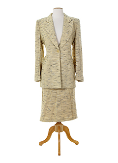 alain et chabason jupe et veste femme de couleur beige (photo)