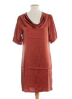 0039 et italy robes et mi et longues femme de couleur orange (photo)