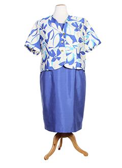 charles et lorens robe et veste femme de couleur bleu (photo)