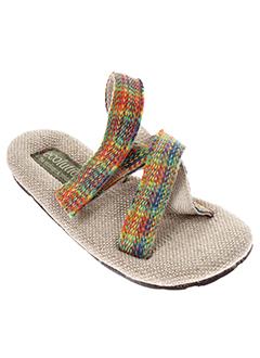 ecolution sandales et nu et pieds enfant de couleur beige