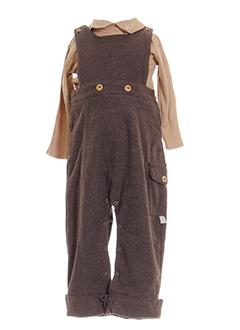 clayeux t et shirt et pantalon enfant de couleur marron (photo)
