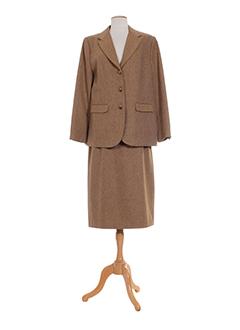 charles et lorens jupe et veste femme de couleur marron (photo)