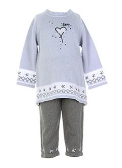 3 et pommes pull et pantalon fille de couleur gris (photo)