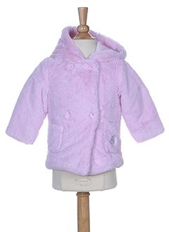 3 et pommes manteaux et courts fille de couleur rose (photo)