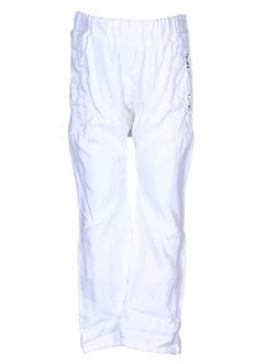 ikks pantalons et decontractes fille de couleur blanc