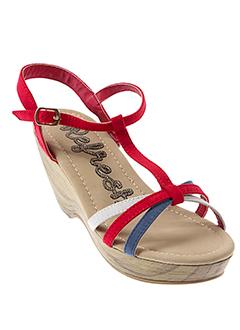 reflex sandales et nu et pieds femme de couleur rouge