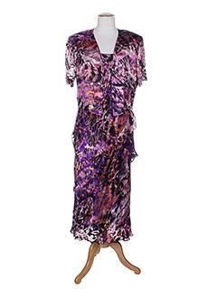 jean et delfin robe et veste femme de couleur violet