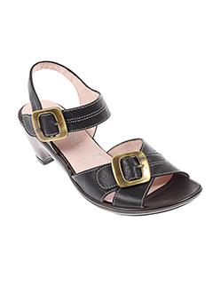 elantine sandales et nu et pieds femme de couleur noir