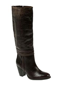one et step bottes femme de couleur marron