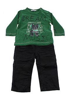 3 et pommes t et shirt et pantalon garcon de couleur vert (photo)